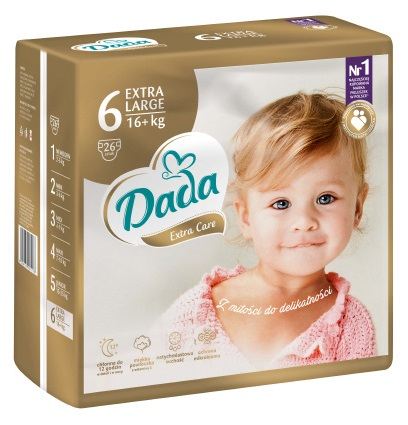 Подгузники DADA extra-care 6 EXTRA LARGE / 16кг+ / 26шт